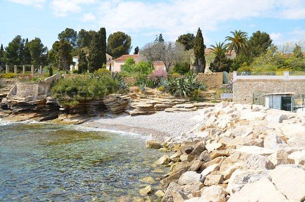 Spiaggia del Porto di Lecques a St Cyr sur Mer - Francia