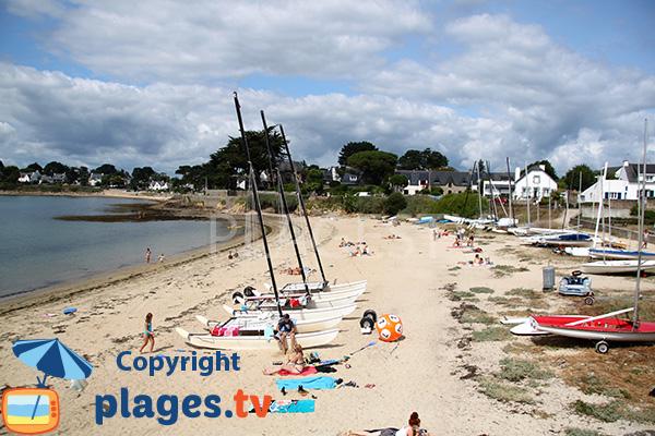 Photo de la plage de Port Leen à Port Navalo