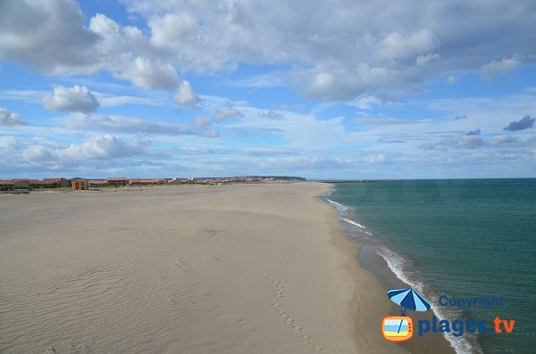 Port-Leucate and its sand beach