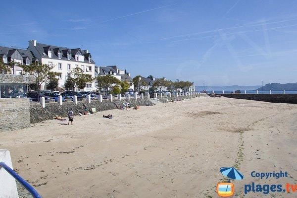 Photo de la plage du Port de Locquirec en Bretagne