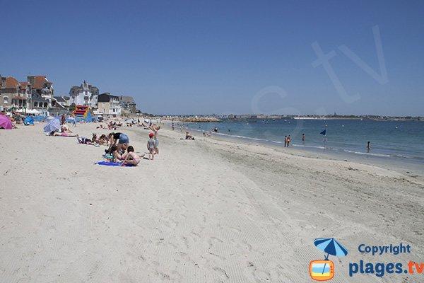Port-Maria beach in Larmor in Brittany in France