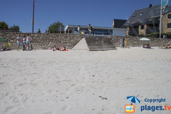 Stairs of Port Maria beach in Larmor