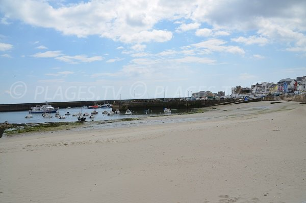 Port Maria beach in Quiberon in France