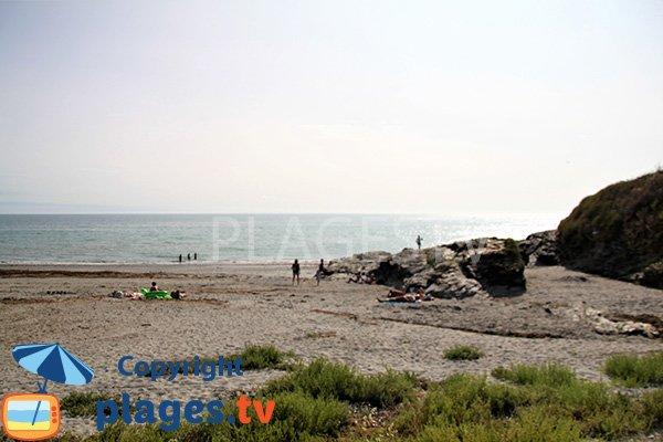 Rochers sur la plage de Port Maria à St Gildas de Rhuys
