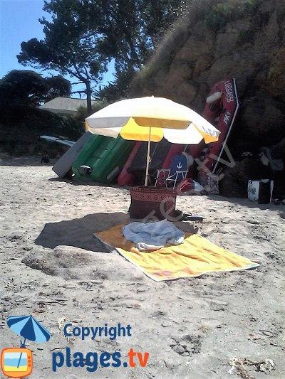plage de Porh-Mélite au mois d'aout - Groix