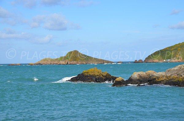 Gwin Zegal vue depuis la plage du Port Moguer à Plouha - Côtes d'Armor