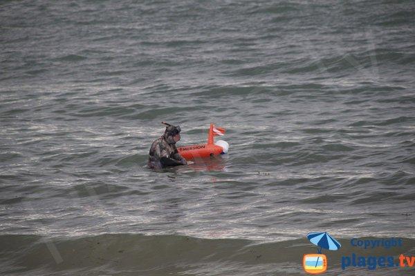 Plongée sur la plage de Port Morvan