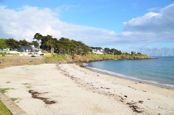Plage de Port Navalo sur la presqu'ile de Rhuys à Arzon