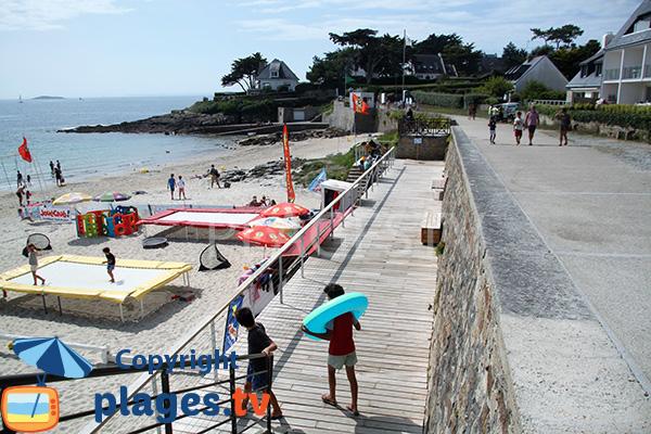 Club mickey sur la plage de Port Navalo