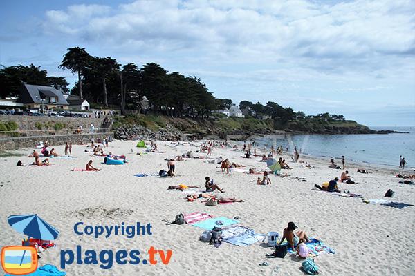 Photo de la plage de Port Navalo en été - Arzon