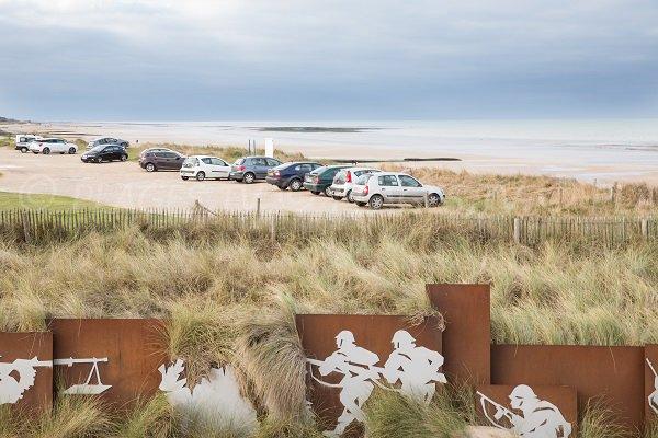 Parking of Courseulles beach - Landing beach