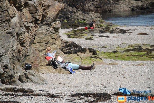 Rochers autour de la plage de Port Poyed - Sauzon