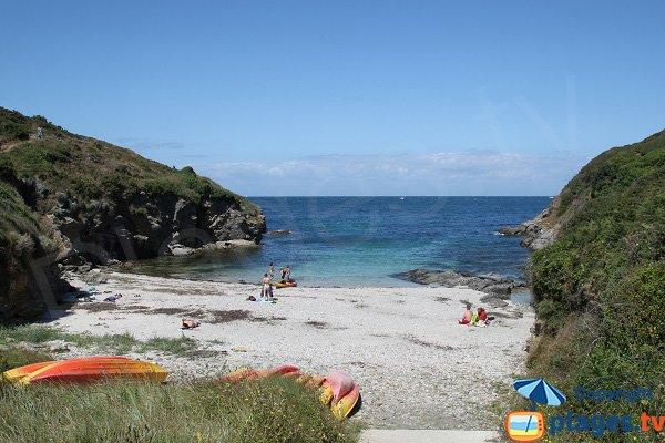 Photo de la plage de Port Puce à Sauzon - Belle Ile en Mer