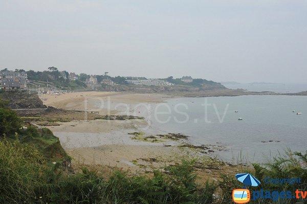 Creek of Port Riou and Saint Enogat beach in Dinard