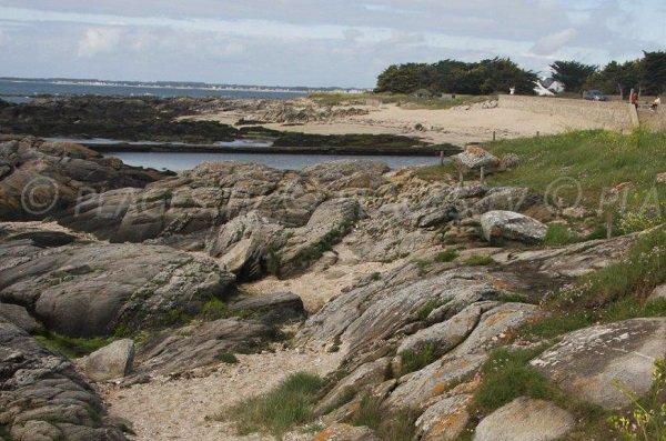 Foto della spiaggia di Port aux Rocs - Le Croisic