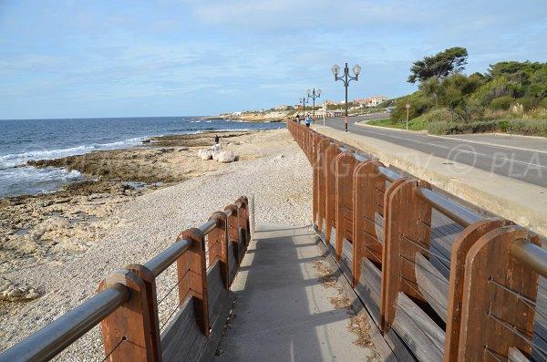 Rampe d'accès à la plage