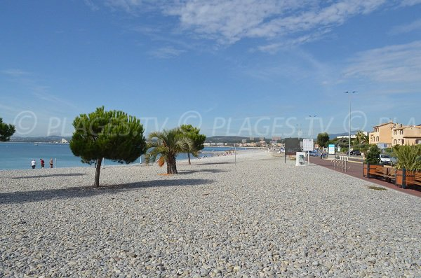 Beach between Saint Laurent du Var et Cagnes sur Mer