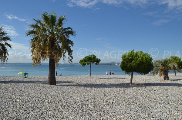 Port beach in Saint Laurent du Var in France
