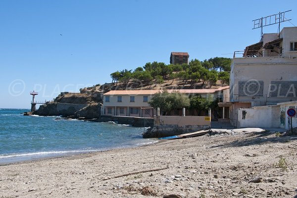 Beach in the Port-Vendres port