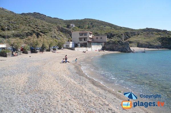 spiaggia di sabbia nel porto - Port Vendres