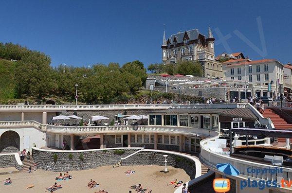 Restaurant on the Port Vieux beach - Biarritz