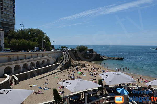 Original beach in Biarritz