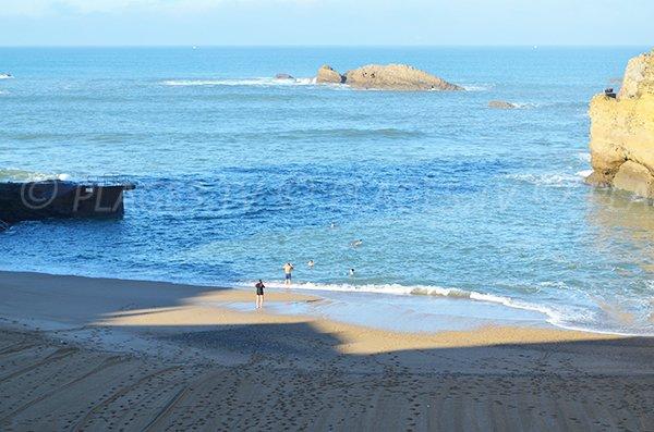 Port Vieux beach in December in Biarritz