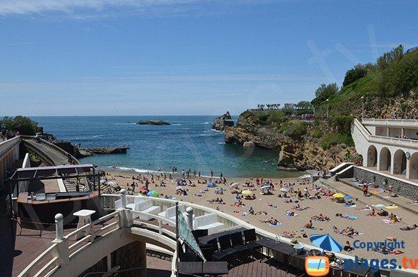 Beach and Rocher de la Vierge