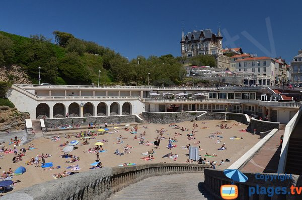 Photo of Port Vieux beach in Biarritz in France