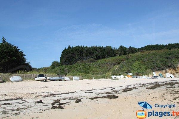 Vallon de la plage de Port York à Belle Ile