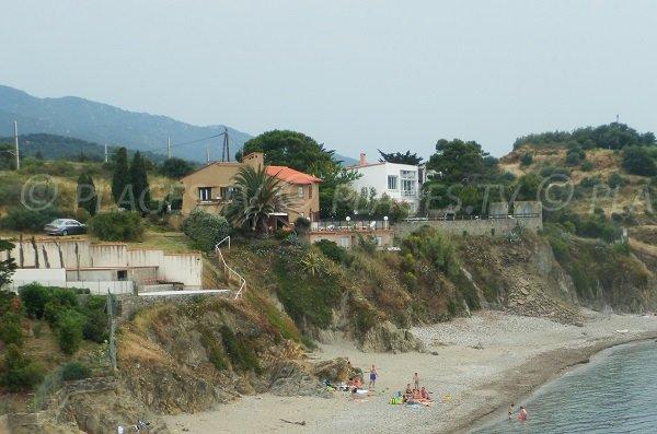 Plage du Porteil entre Collioure et Argelès