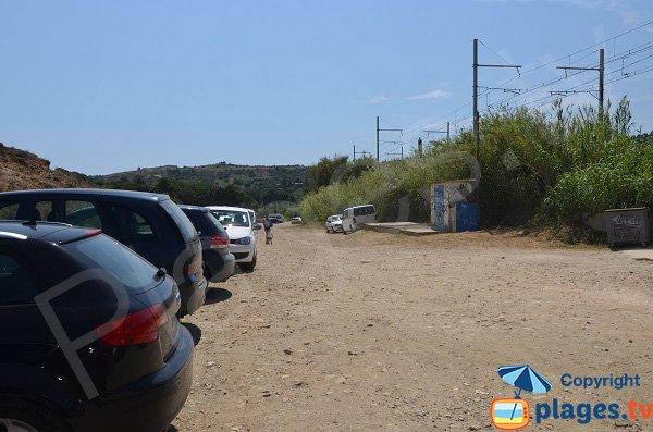 Parking de la plage du Porteils d'Argelès sur Mer