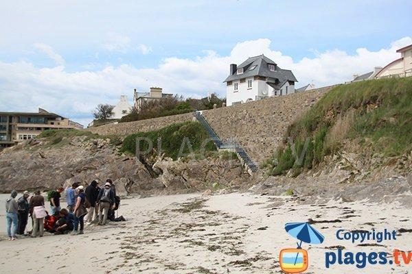 Escaliers de la plage du centre ville du Conquet