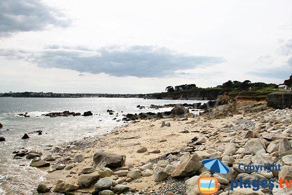 Petite crique à côté de la plage de Portez à Locmaria-Plouzané