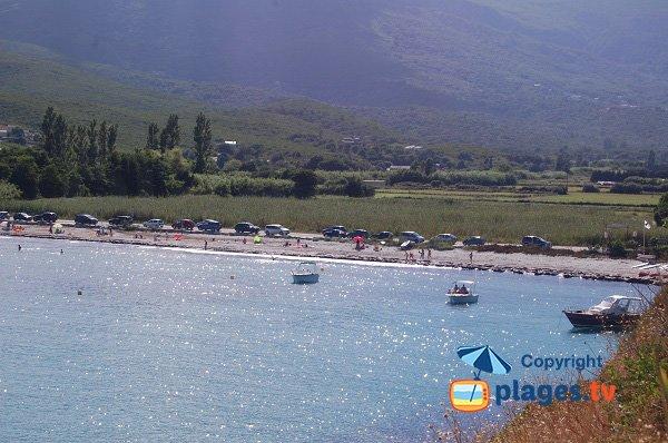 Plage de Porticciolo en Corse