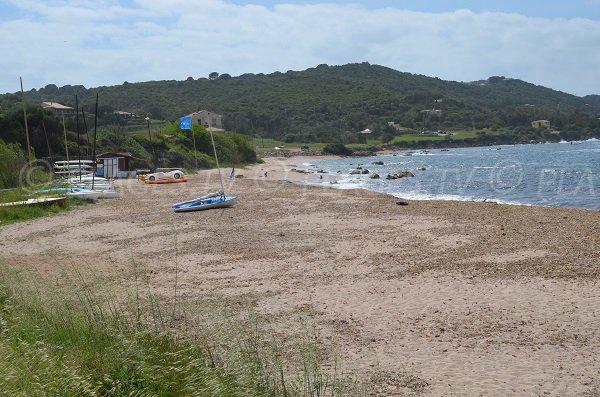 Portigliolo beach in Corsica - sailing center