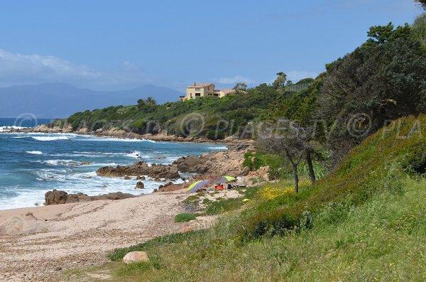 Cove of Portigliolo in Corsica