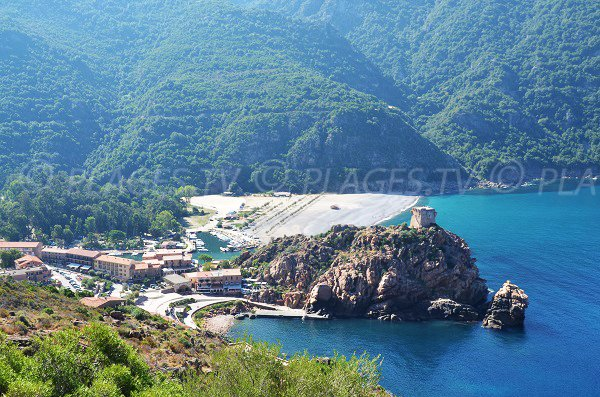 Foto della marina di Porto - Corsica
