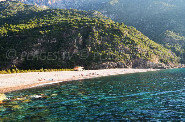 Porto beach in Corsica