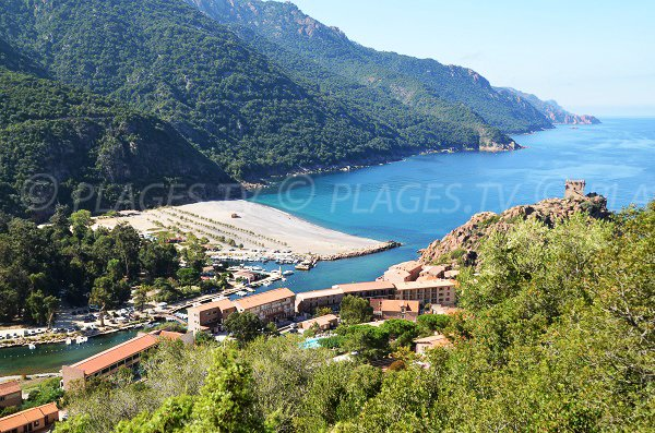 Photo of Porto beach in Corsica