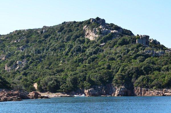 Cove at the end of Porto Novo gulf