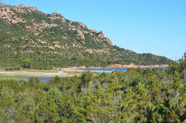 Pond and gulf of Porto-Novo in Corsica