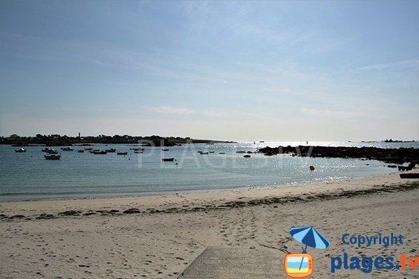 Portsall: sa plage et sa zone de mouillage - Ploudalmézeau