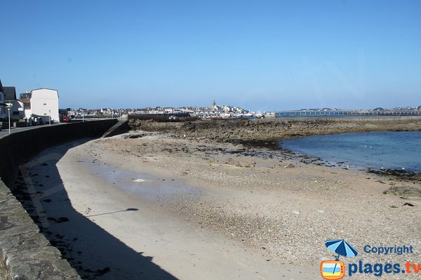Beach of Porz ar Goret in Roscoff in France