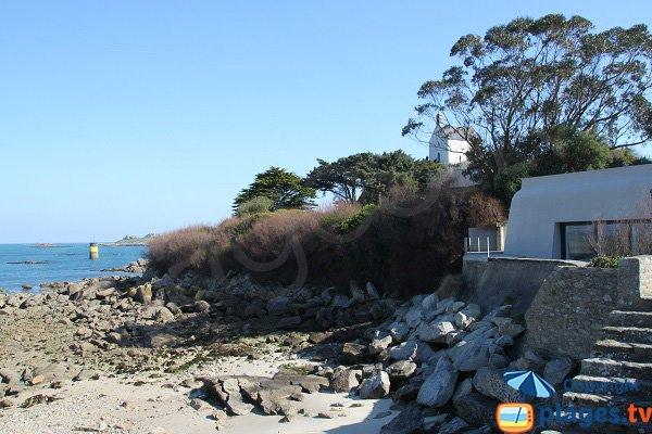 Maison donnant sur la plage de Porz ar Goret à Roscoff