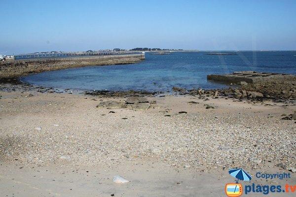 Vue sur l'ile de Batz depuis la plage de Roscoff