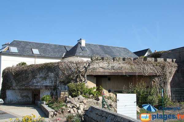 Old blockhouse on the beach of Roscoff