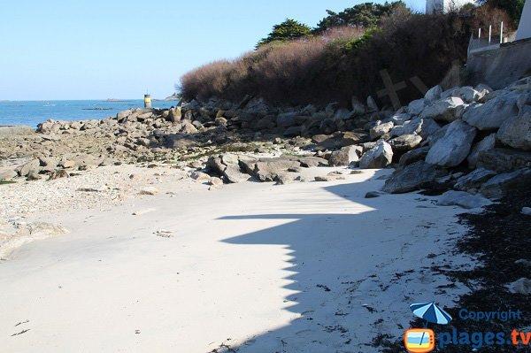 Photo de la plage de Porz ar Goret à Roscoff