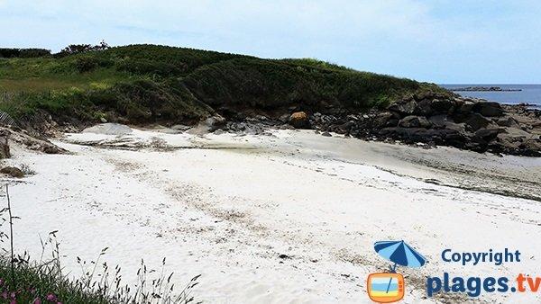 Cale de la plage de Porz ar Marc'h à Lampaul-Plouarzel