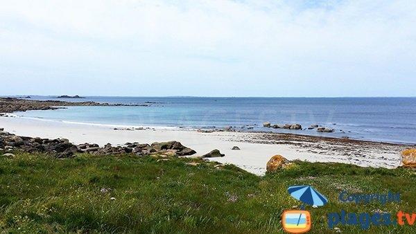 Belle plage à Lampaul-Plouarzel